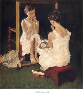 donna allo specchio rockwell