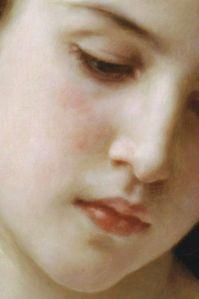 Tête d'une jeune fille (détail), William-Adolphe Bouguereau 1898
