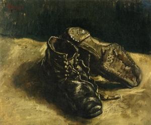 Vincent-van-Gogh.-Un-paio-di-scarpe.-Una-scarpa-rovesciata-1887-olio-su-tela-cm.-375-x-415.-Collezione-privata-courtesy-of-Eykyn-Maclean